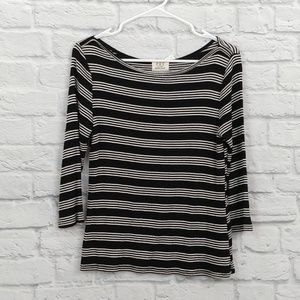 Project Social T | B&W 3/4 Sleeve Top Soft Tee